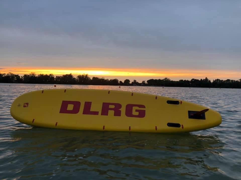 SUP DLRG Sonnenuntergang