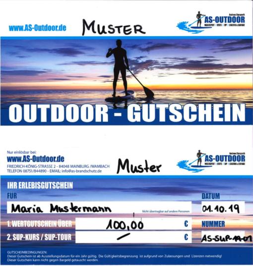 Outdoor Gutschein