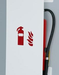 Designfeuerloescherkasten-weiss